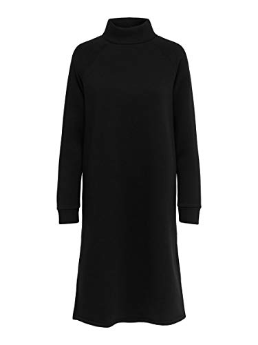 Only ONLLOLA L/S Highneck Dress Swt Vestito, Nero, S Donna