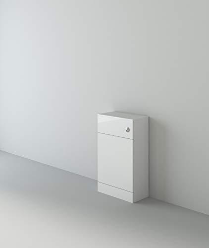 VeeBath WCGW35 Lumin Vloer Staande WC Terug naar Muur BTW Toiletkast met Open Toegang Cistern Meubel-500mm, Wit