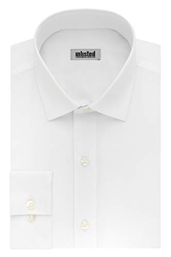 Kenneth Cole Unlisted Men's Dress Shirt Big and Tall Solid ,  White,  22