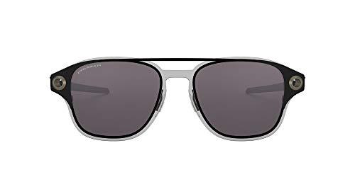 Oakley Men's OO6042 Coldfuse Square Sunglasses, Matte Black/Prizm Grey Polarized, 52 mm