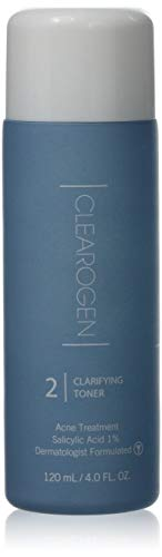 Clearogen Clarifying Toner for acne and blemishes, Natural Ingredients, Fresh Botanical, Unclogs pores and balances oil production, 4.0 Fl Oz