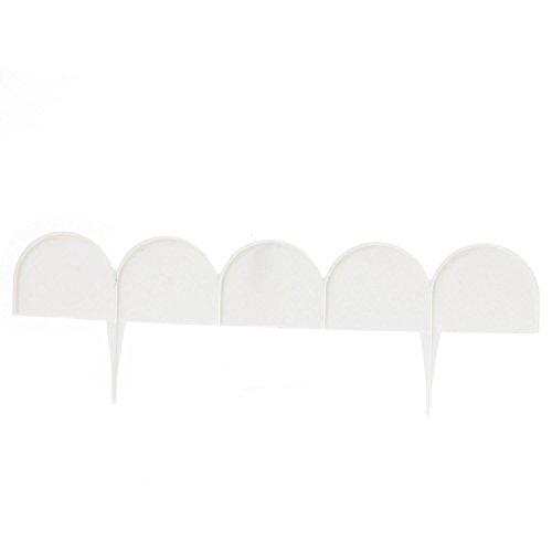 Zaun Rasenkante Beeteinfassung Palisade 10 m in weiß