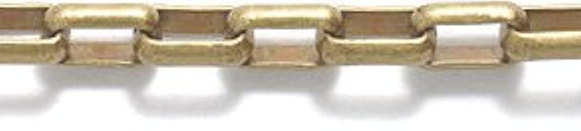Shipwreck Beads Electroplated Brass Box Link Chain, 5mm, Metallic, Antique Brass, 3-Feet, Unfinished