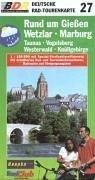 Deutsche Radtourenkarte, Bl.27, Rund um Gießen, Wetzlar, Marburg