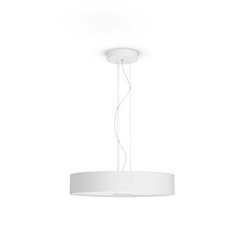 Philips Hue White Ambiance Fair - Lámpara colgante de techo con mando, Iluminación inteligente, compatible con Amazon Alexa, Apple HomeKit y Google Assistant