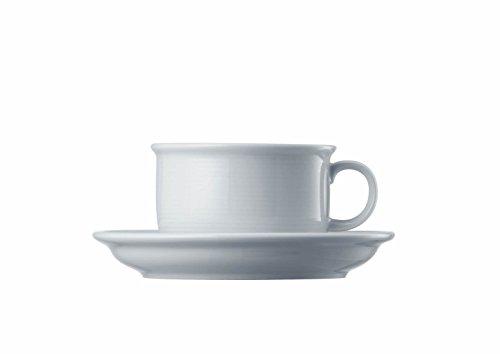 Thomas Trend Frühstückstasse mit Untertasse, Porzellan, weiß, 400 ml, 2-tlg., 14660