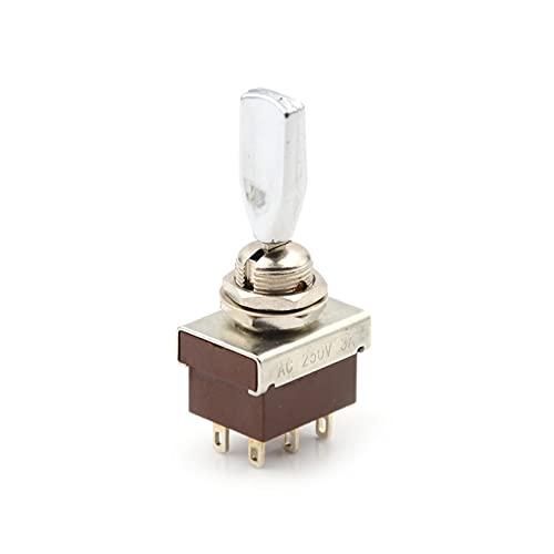 LIANGLMY Codificador 1 unids ON/Off/ON DPDT Mange Plante Cambiar el Interruptor AC 250V 3A 3 Posición