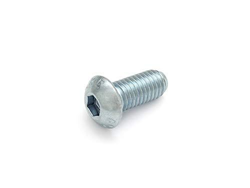 DIN 7380 - Tornillo de cabeza redonda con muesca hexagonal (10.9, galvanizado, 100 unidades), M3x25, 1