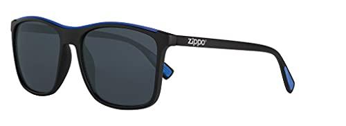 Zippo Gafas de sol OB94-02 de policarbonato negro con detalles azules lentes ahumadas protección UV400…