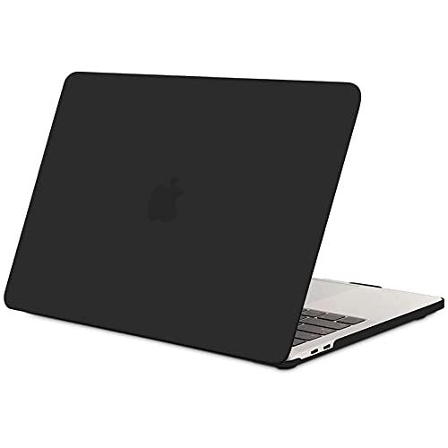 TECOOL Custodia MacBook PRO 13 Pollici 2016-2020 (Modello: A2338 M1/ A2289/ A2251/ A2159/ A1706/ A1708/ A1989), Sottile Plastica Cover Rigida Copertina Case per MacBook PRO 13 Touch Bar - Nero