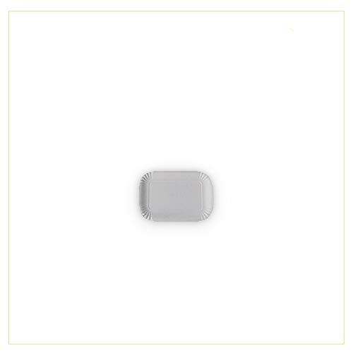 Vassoio di Cartone Bianco per Pasticceria - Pacco da kg. 10 - Formato cm. 14,5x22,5 cm Mis. 2 - Vassoi rettangolari monouso Utilizzabili per servire Dolci, pasticcini, Torte, pizzette e cibi cotti