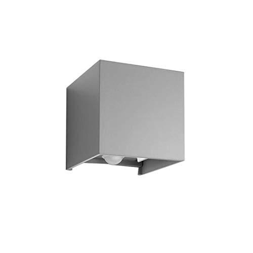 Klighten Wandleuchte Bewegungsmelder Außen/Innen LED Wandbeleuchtung,12W,IP 65,Einstellbarer Lichtstrahl,Wandleuchte Sensor für Garten/Flur/Weg,6000K kaltweiß,Grau