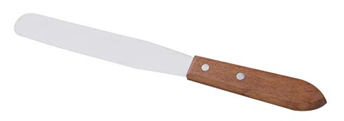 """A2Z-WHS8 Stainless Steel Lab Spatula with Wooden Handle, 8"""" Blade, 1.25"""" Blade Width, 12.4"""" Total Length"""