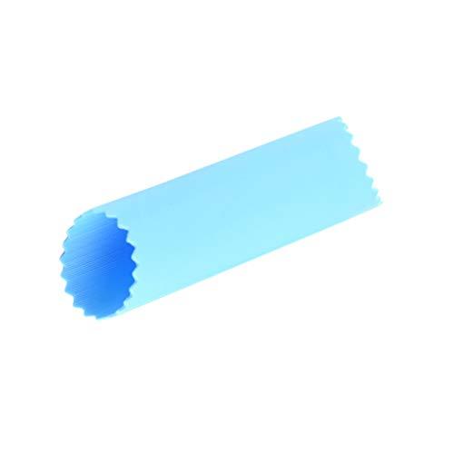 Judyd Creative Simple Garlic Press Peeler Wear-Resistant Durable Practical Gadget Item,Blue Silicone Garlic Peeler,Blue