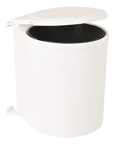 Sanitop-Wingenroth 28043 3 Schwenkbarer Einbau-Abfallsammler – 13 Liter – Schwenkeimer für Drehtüren, weiß, Küche Abfalleimer
