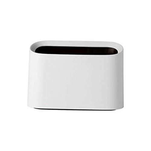 Hukz Modern Oval Bruchsicherer Kunststoff-Mülleimer Papierkorb , Umweltschutz, geruchsneutral, sturzsicher und fest ,Lässig sauber ordentlich kompakt bequem und platzfrei werfen (Weiß)