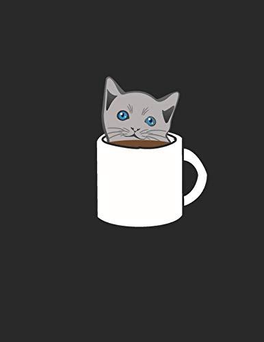 Kaffee Tasting Buch: Dein persönliches Verkostungsbuch zum selber ausfüllen ♦ für über 100 verschiedene Kaffeesorten ♦ Egal ob aus europäischen, ... A4+ Format ♦ Motiv: Katze im Kaffee