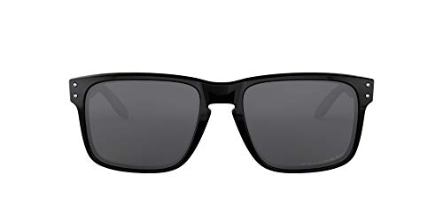 Oakley Men's Holbrook Polarized Rectangular Sunglasses,Polished Black...
