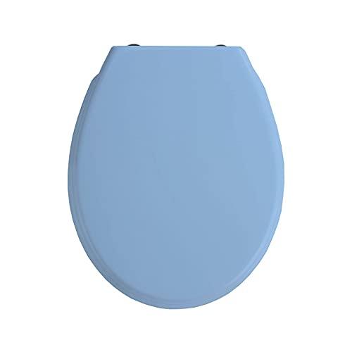 EUROXANTY Copriwater universale   Antiscivolo   Sedile WC con forma circolare   Installazione rapida e facile   44 x 36 centimetri   Blu