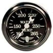 Stewart Warner 82480-72 Wings Mechanical Water Temp Gauge, Black