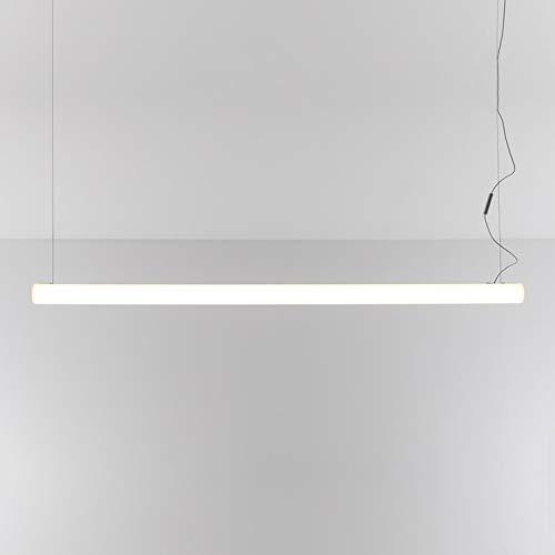 ALPHABET OF LIGHT-Lampada a sospensione LED lineare, L180 cm, colore: Bianco Artemide – Design by BIG – Bjarke Ingels Group