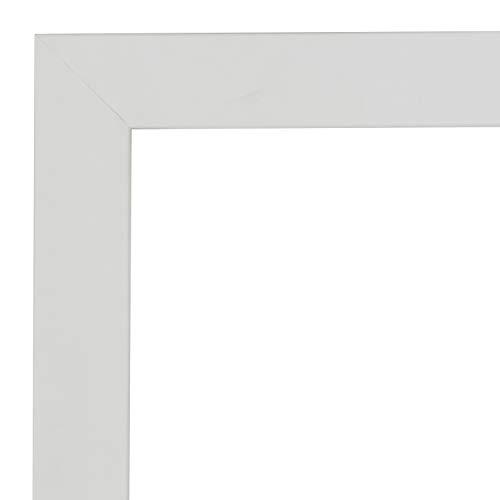 Enmarcación a Medida para Fotos, póster, Puzzles, Diplomas, orlas, láminas. con Cristal de metacrilato 1.5 mm y Trasera Antihumedad 5mm. Cuadro Modelo 2682 (Blanco, 30 x 40 cm)
