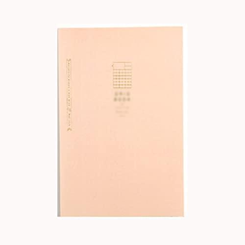 A5/B5 Cuaderno Estudiante Draft Book Horizontal Cuadrado en blanco Página interior Book Book Disco Diario Libro de libro libro (Color : A5 pink square)