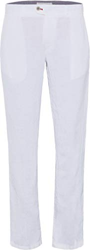 BRAX Herren Leinen-Chinohose Evans Regular Fit Weiss (10) 28