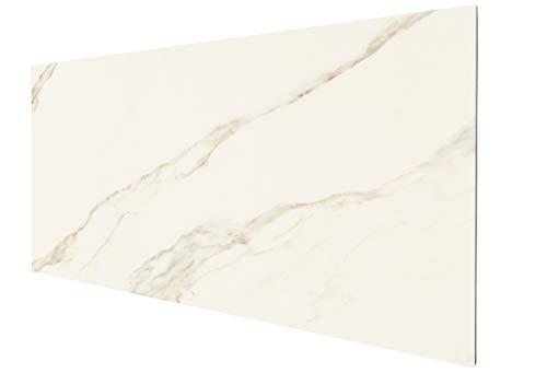 insidehome | Infrarotheizung CERAMICA rahmenlos | Frontplatte aus italienischem Feinsteinzeug | 550 Watt - 100 x 50 x 1,9 cm | für 7 – 8 m² | Design Fliese: Calacatta glänzend