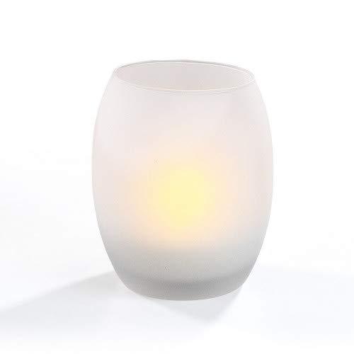 ESSENTIELLE déco – Bougeoir en verre avec bougie A LED LH90