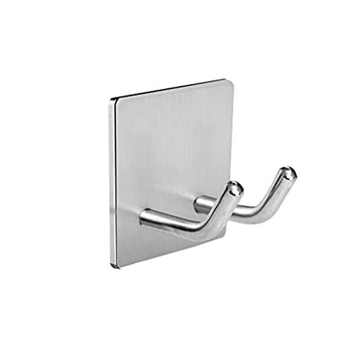 Paquete de 4 ganchos de succión sin clavos para uso doméstico, gancho de pared de acero inoxidable, colgador de pared de metal para baño, gancho multifuncional para ropa