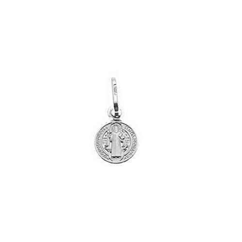 2 Medalla San Benito Plata de Ley