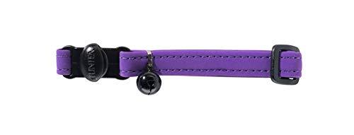 HUNTER SOFTIE Katzenhalsband, Kunstleder, mit Sicherheitsverschluss, violett