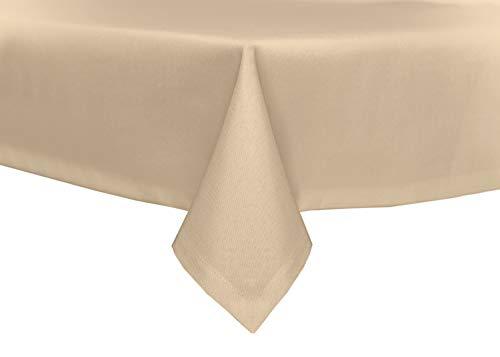 TextilDepot24 - Mantel para mesa de jardín, imitación de lino, antimanchas, repele el agua, no necesita planchado, arena, 110 x 160 cm