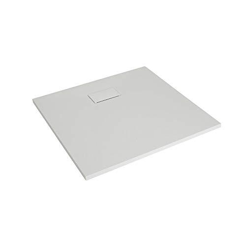 Hudson Reed Rockwell - Douchebak Vierkant Mat Wit Steeneffect 90 x 90cm