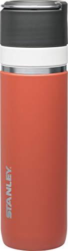 Stanley GO Ceramivac Thermosflasche mit Keramikbeschichtung, 0.7 L, lachsrot, beschichteter 18/8 Edelstahl, vakuumisoliert, geschmacksneutral, Thermoskanne Isolierkanne Thermoflasche