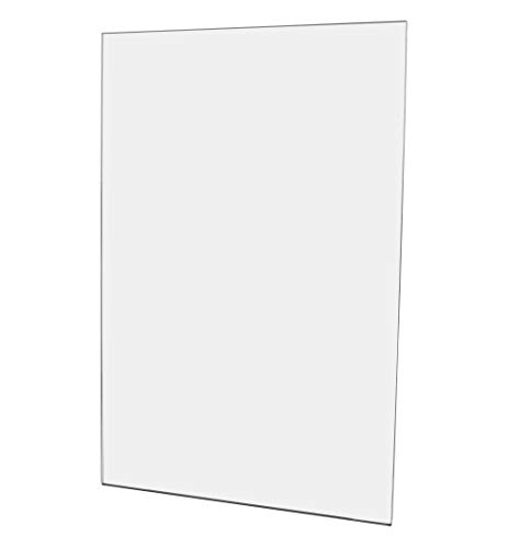 "Marketing Holders Wall Mount Sign Holder NO Holes Vertical Portrait Clear Acrylic Signs 11"" x 17"" Qty 1"