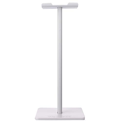 YAMAZA Soporte para auriculares de escritorio vertical de aleación de aluminio con base antideslizante ABS 9 x 9 x 20 cm