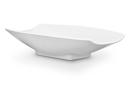 Bon Chef 53701White Melamine Curves Bowl, All White
