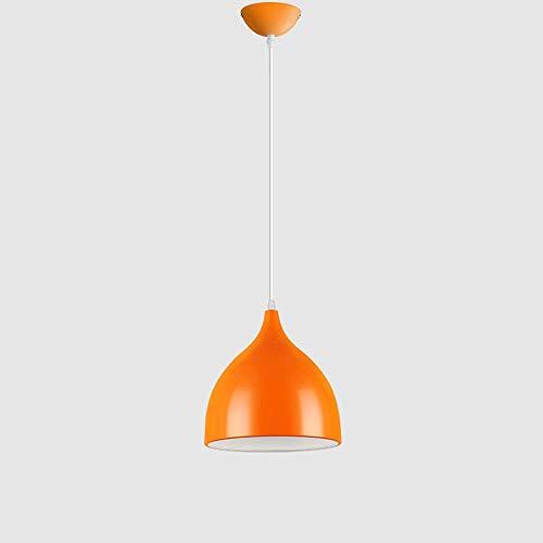 YANGENG Lámpara De Aluminio Moderna Y Simple Comedor Lámpara De Araña De Caída De Color De Una Sola Cabeza Lámpara De Sala De Estar Dormitorio Iluminación Colgante Barra De Techo Estudio LED Lámpara D
