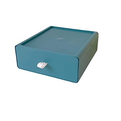 QKFON Cajón colorido, organizador de escritorio de escritorio, caja de almacenamiento de escritorio de maquillaje para suministros de oficina escolares
