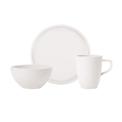 Villeroy & Boch 10-4130-9075 Artesano Original para 2 Personas, 6 Piezas, Servicio de Desayuno de Porcelana Premium, Blanco, Apto para lavavajillas, Porcelain