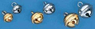 Rayher 2503206 metalen klokken (kogelvormig), SB-Btl. 10 stuks, goud,