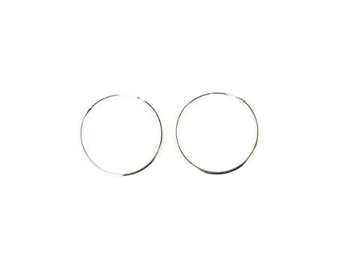 PINTI 925 Sterling Silver Hoop Sleeper Earrings |Size: 8mm|Style: 925 Silver|