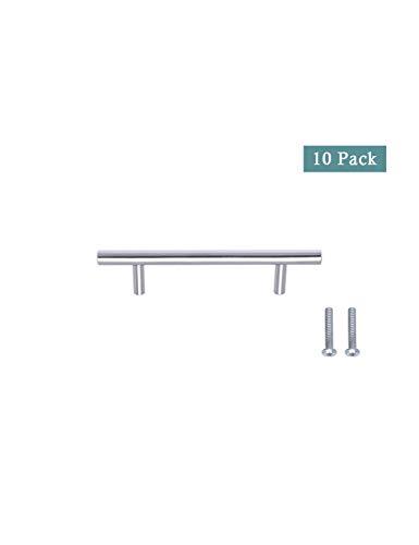 10er Pack Hardware Nickel Gebürstet Edelstahl - (96 mm, 128 mm, 192 mm) Loch Center Bar Griff ziehen mit Küchenschrank Hardware und Frauen Mann Kommode Schubladengriffe SPDYCESS