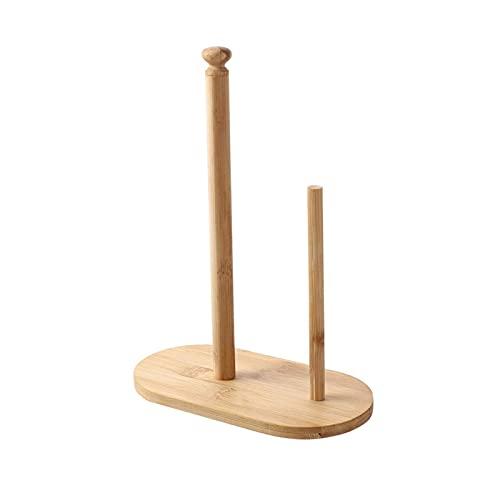 Portarrollos Cocina Soporte de toalla de papel de pie - Cocina Bambú de madera Rollo de papel Papel Papel Papel Papel Toalla para Gabinete Encimera Comedor Mesa Portarollos Cocina