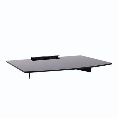"""Mount World 1444 Compact Glass Component Single Shelf for DVD Player, Blu-ray Player, Cable Box, Satellite, Wii and Video Accessories (14.17"""" Wide X 9.84"""" Deep X 1"""" Height)"""