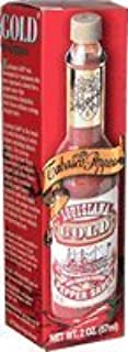 Louisiana Gold Red Pepper Sauce with Tabasco Peppers - 2 oz Bottle in Box