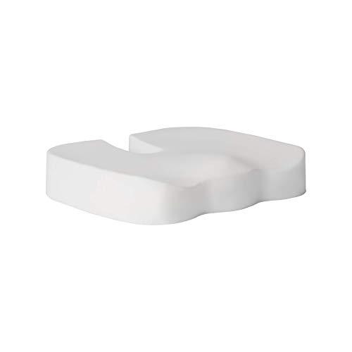 MERINO BETTEN Ergonomisches Sitzkissen | Sitzunterlage mit Memory-Foam | natürliche Viskose | Schmerzlinderung | 40x45x7 cm