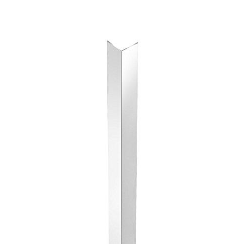 Profilweb WAB0005 - Perfil efecto anodizado acero inoxidable ángulo de aluminio 10 x 10 x 100 mm de plata